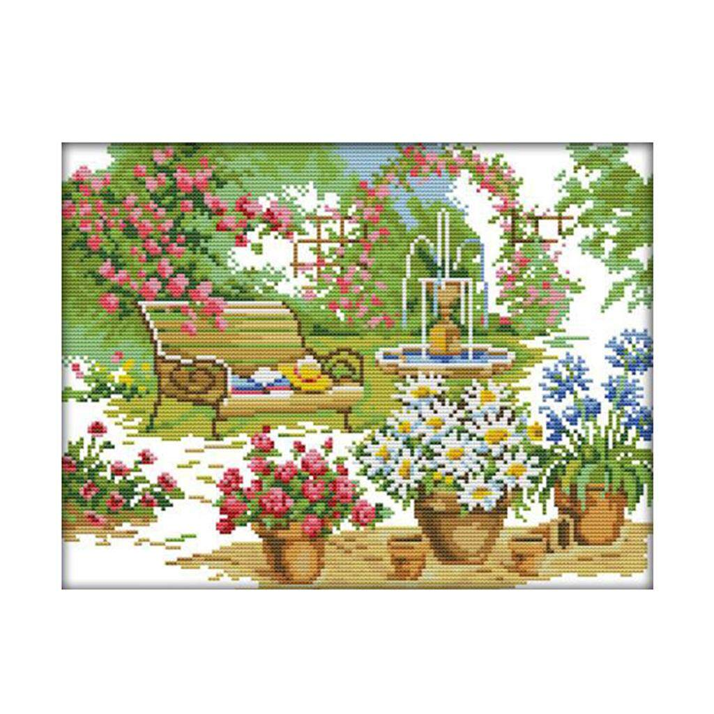 Twin panda Stamped Cross Stitch Kits for Beginners Pre-Printed Needlecrafts Counted Cross Stitch