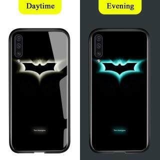 Honinga Dành Cho Samsung Galaxy A50 Ốp Dạ Quang, Ốp Lưng Kính Cường Lực Marvel Avengers Ốp Lưng Bảo Vệ Ban Đêm Bằng TPU Chống Sốc Thời Trang Sang Trọng thumbnail