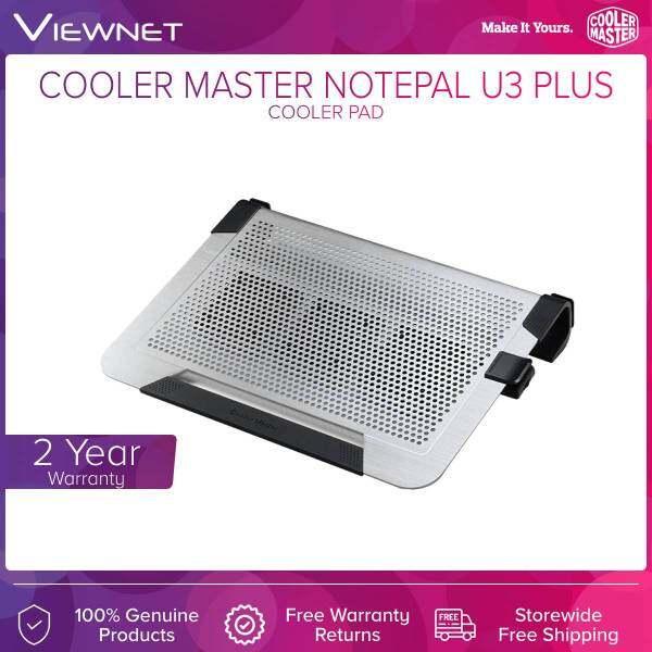 Cooler Master Notepal U3 PLUS 3 x 80mm Fan Slim Light Weight Portable Mesh USB 2.0 Notebook Cooler for up to 19 Laptop (Black R9-NBC-U3PK-GP / Silver R9-NBC-U3PS-GP) Malaysia