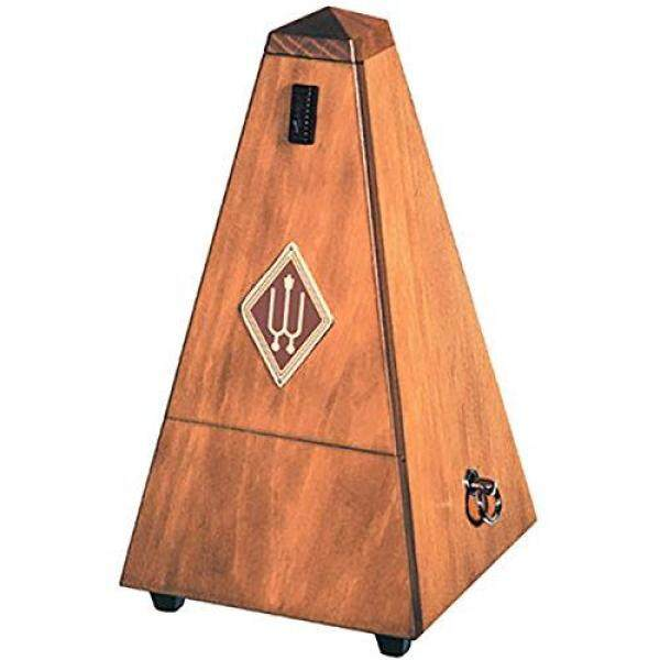Wittner Wooden Metronome in Walnut Color with Frosted Finish, No Clapper Bell 803M Malaysia