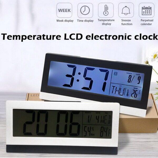 【Desk Báo Động Clock】Desk Kỹ Thuật Số Đồng Hồ Báo Thức, Hiển Thị Độ Ẩm Ngày Nhiệt Độ Thời Gian bán chạy
