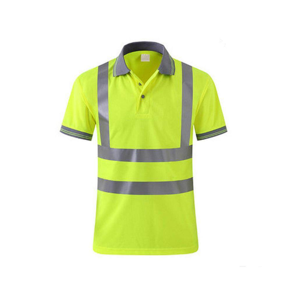 T-shirt Work Safety Clothing Workwear Dry Fit T-shirt Short Sleeve Reflective Safety Shirt Breathable
