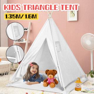 Lều Lớn Teepee Lều Nhà Chơi Giả Vờ Vải Bố Cotton Cho Trẻ Em, Quà Tặng Cho Bé Trai Bé Gái thumbnail