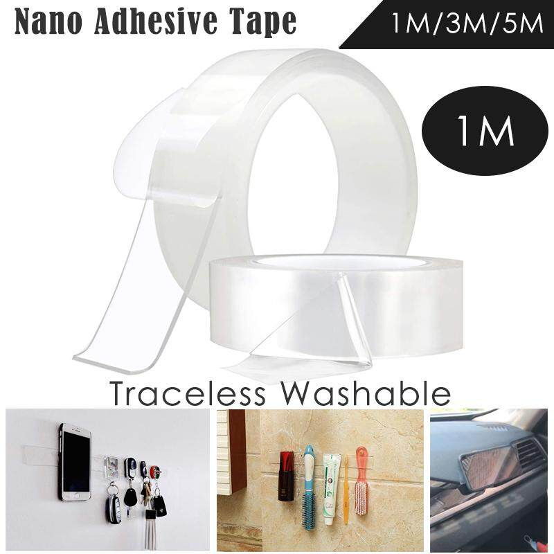 1M/3M/5M Multifunctional Double-Sided Adhesive Nano Tape,Traceless Washable Removable Tapes, Indoor Outdoor Gel Grip Sticker