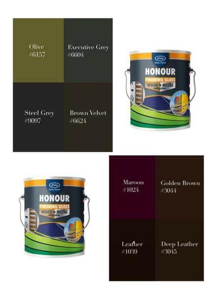 1L // 5L HONOUR Anti-Rust Gloss Paint ( Wood & Metal )