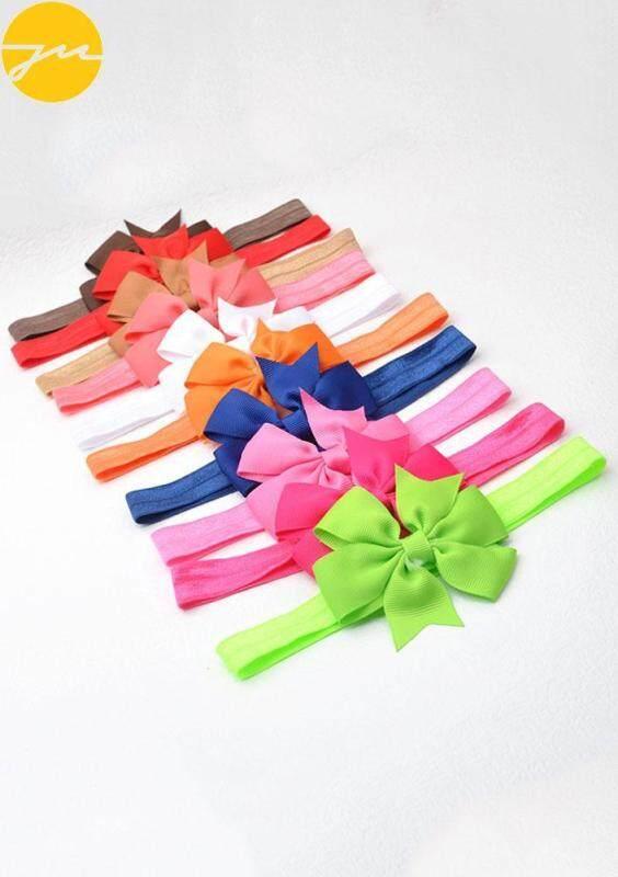 Baby Lovely Girls Bow Elastic Headwrap Hairnet Headband 10PCS Hairband Malaysia