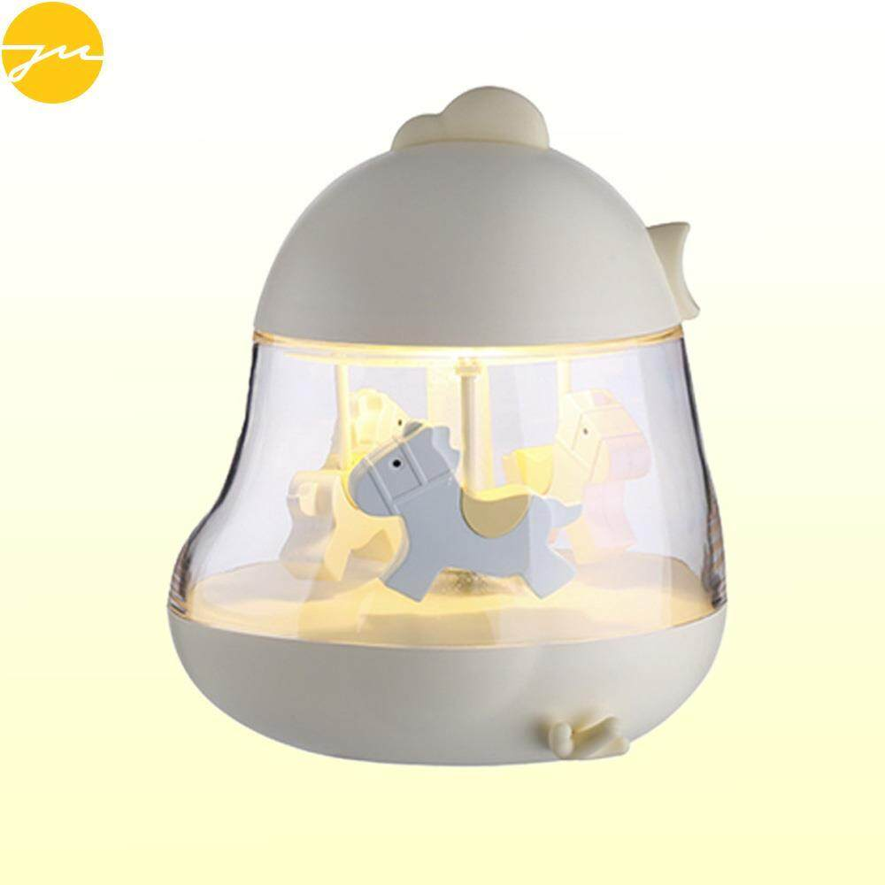 JMS Musical Box Carousel Music Box Music Box Romantic Exquisite LED Light Merry Go Round Colorful Clockwork Kids Toy Wedding ValentineS Day