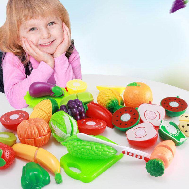 13/22 Pcs Cutting Fruit Vegetable Pretend Play Children Kid Educational Toy By Rytain.