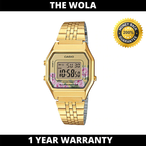 Casio Womens Vintage LA680WGA-4CDF Digital Gold Watch (watch for women / jam tangan wanita / Casio watch for women / Casio watch / women watch) Malaysia