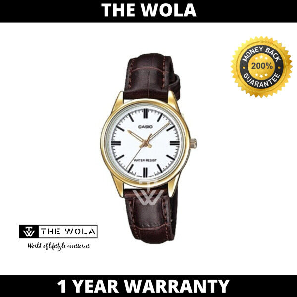 Casio Womens Analog LTP-V005GL-7AUDF Gold tone Brown Leather Watch  (watch for women / jam tangan wanita / casio watch for women / casio watch / women watch) Malaysia
