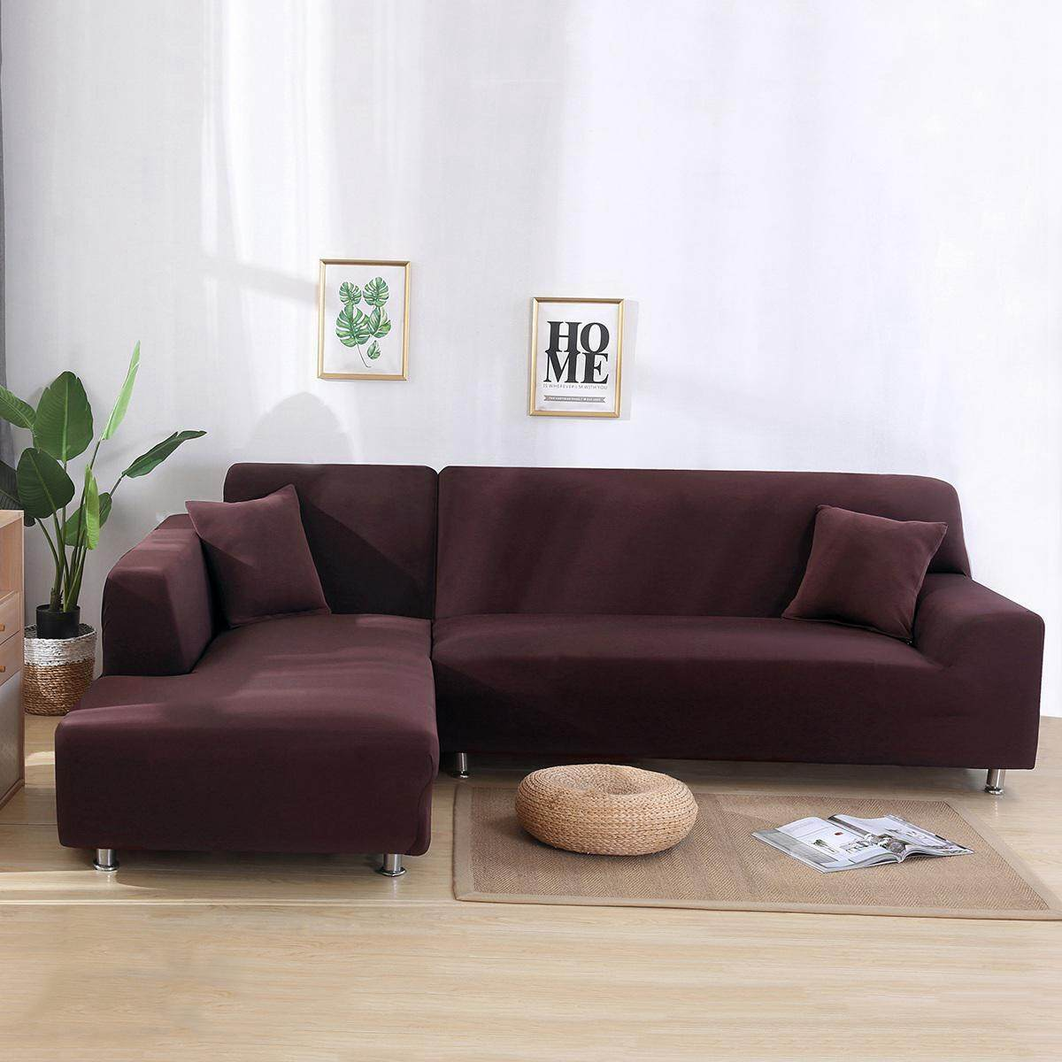 NiceToEmpty [Hot Sale]3 Seater L Shape Stretch Elastic Fabric Sofa Cover Pet Dog Sectional /Corner Couch Covers/Covers for Sofa Elastic Couch Shield,Furniture Protector