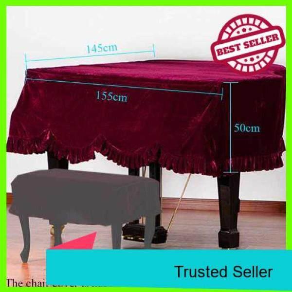 Grand Piano Pleuche Bordered Dust Protective Cover Cloth Malaysia