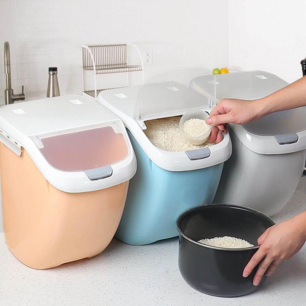 Aolvo Wadah Penyimpanan Beras, 6kg/10kg Penyimpan Makanan Kotak Dapur Disegel Tahan Air Penyimpanan By Aolvo.