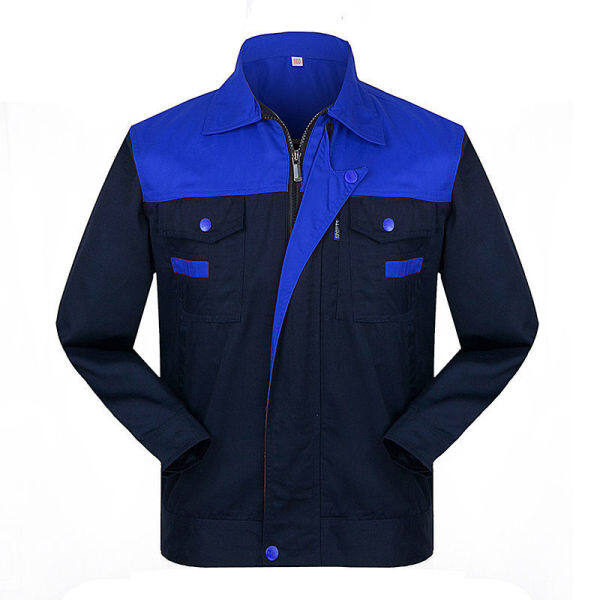 Construction site work clothes suit men and women tooling long sleeve in the spring and autumn coat workers labor protection wear-resisting garage workshop