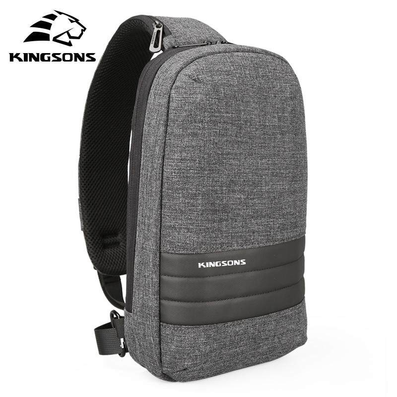d4b9c50534e9 Kingsons New Anti-theft Men Chest Bag Casual Messenger bag Single Shoulder  Backpack 9 inch