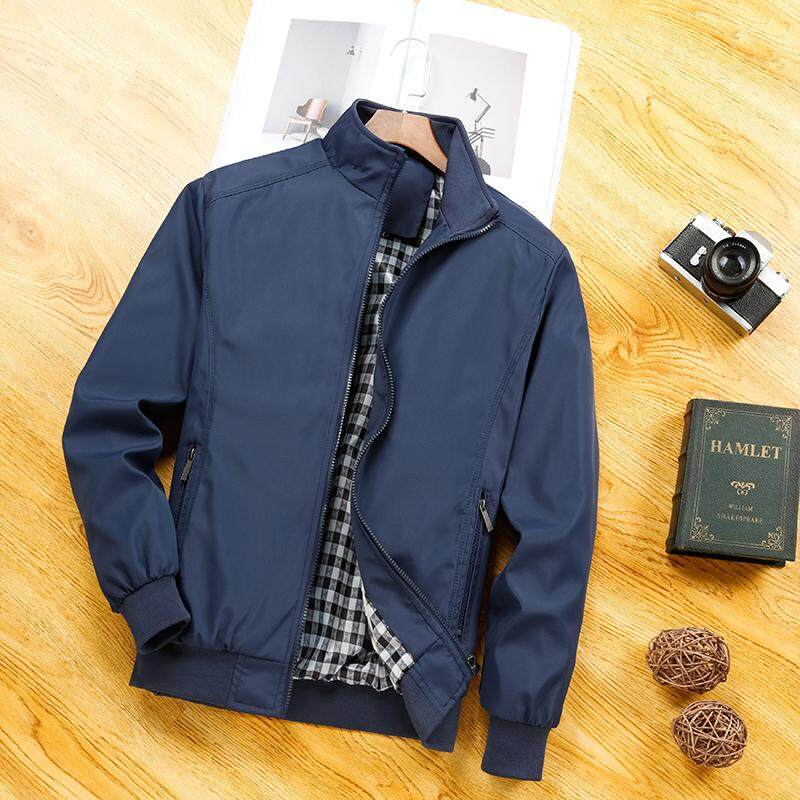 04022c4c293f8 Jacket Men s Outerwear Spring And Autumn 2018 New Style Thin Fold-down Collar  Coat Leisure