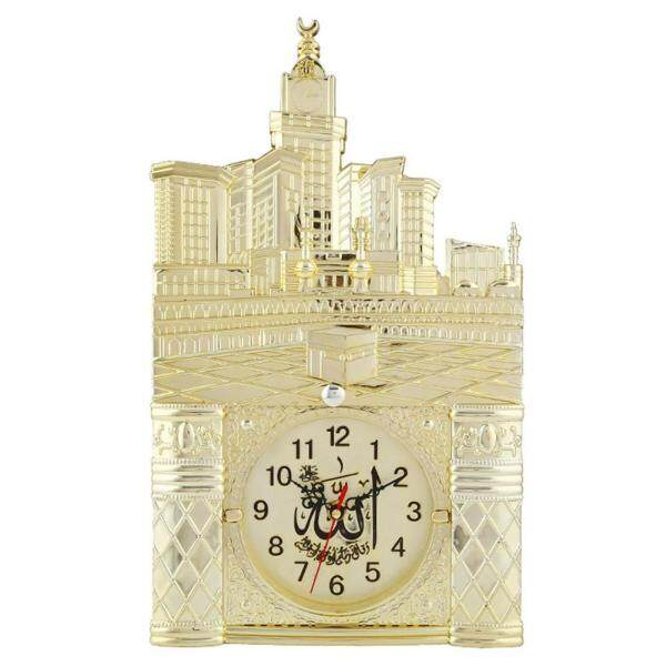 X-F Vintage Islamic Mosque Azan Wall Clock Muslim Prayer Home Room Decor Gift