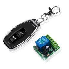 Điều khiển từ xa không dây mạch thu sóng 433Mhz điện áp DC12V 10A, bộ phát RF kiểu mã học lệnh với mô đun điều khiển từ xa thích hợp cho cửa nhà xe hơi – INTL