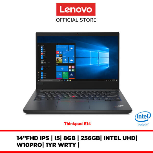 Lenovo Notebook Laptop Thinkpad E14 Black 20RAS02000/20RAS01600 14/i5/8GB/256-512GB/Intel UHD/W10Pro/1YRS WRTY Malaysia
