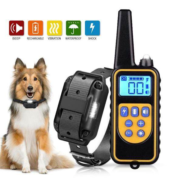 Dog Training Collar Dog Shock Collar with Remote 800 Meters Range Waterproof Rechargeable 1-99 Vibration No Harm Fast Training Effect for Small Medium Large Dogs