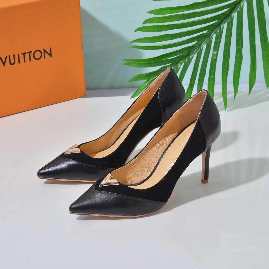 4af31d3ccc5 LV2019 new women's shoes, fashion high heels, evening dress shoes