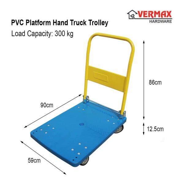 Foldable PVC Platform Hand Truck Trolley / Troli Plastic PVC Heavy Duty 300kg