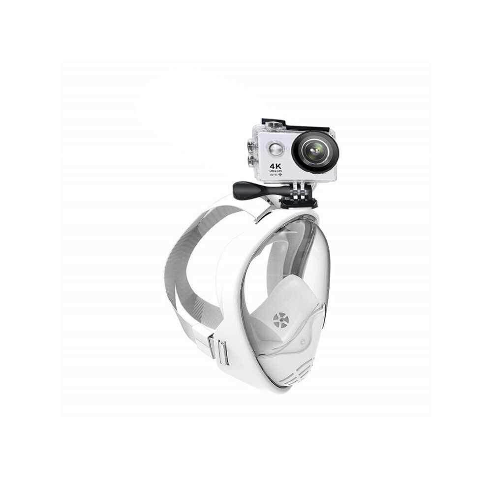 5th Generation Surface Full Face Detachable Dry Snorkeling Diving Mask (white)