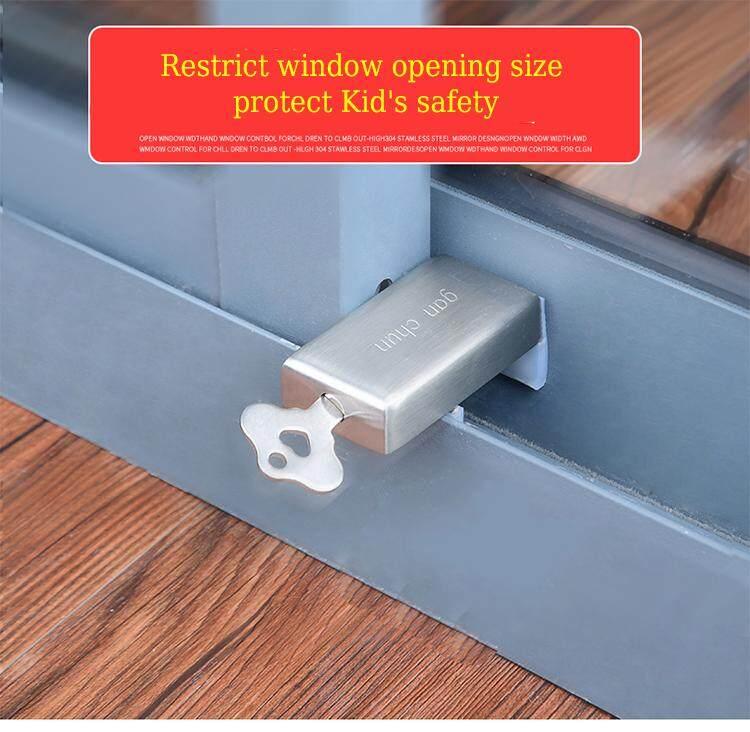 aluminum alloy window lock  Sliding doors lock Fixed position lock child protection safety lock Open window size regulate lock Fixed position lock
