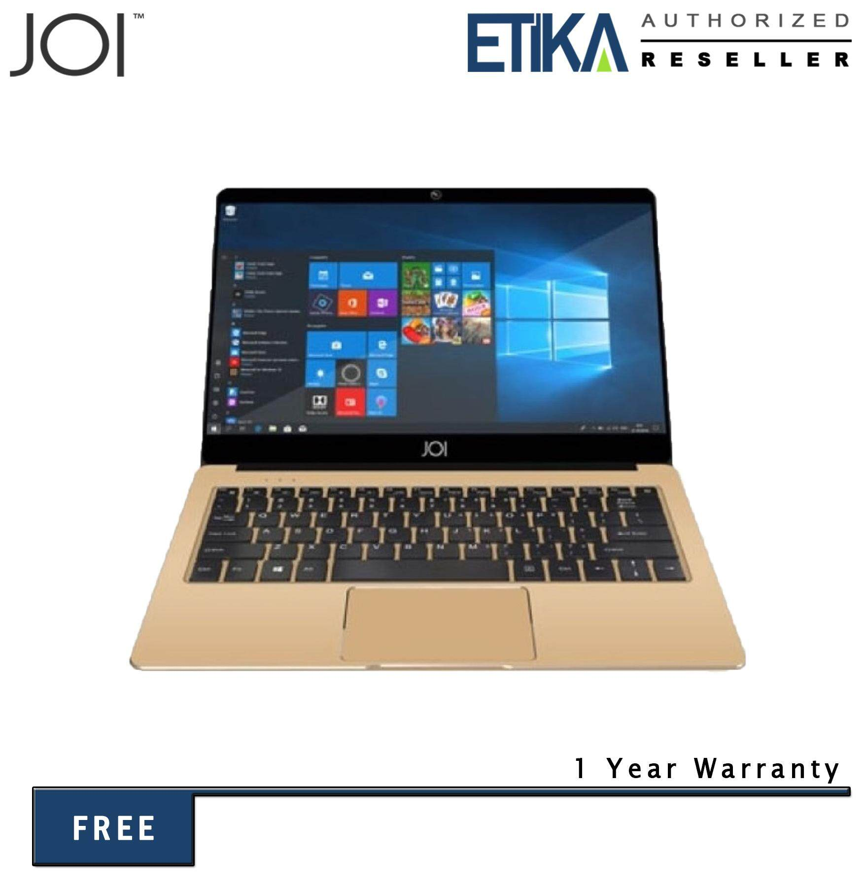 JOI Book 80 12.5 FHD Gold Laptop (Cel N3350/ 4GB/ 64GB/ Intel Graphics/ W10) Malaysia
