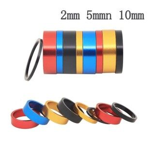 1pcs 2 5 10mm Aluminum Alloy Bicycle Headset Pad Front Riser Pad Front Fork Gasket thumbnail