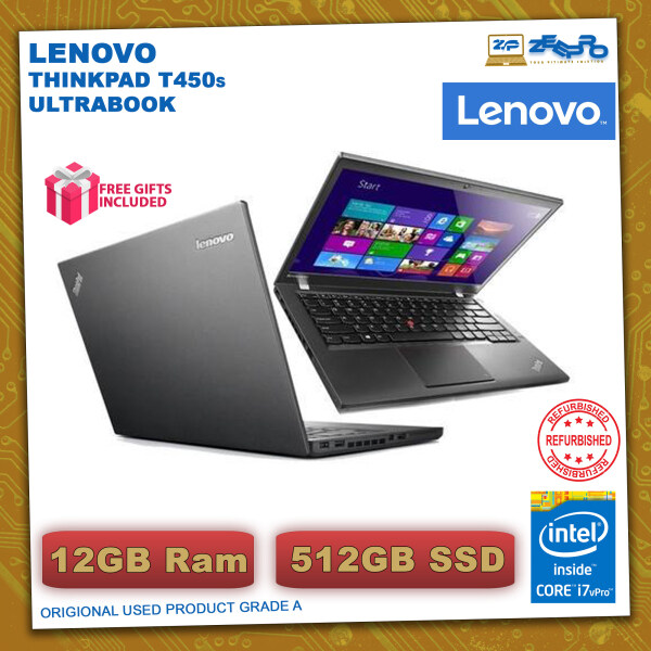 Lenovo Thinkpad T450s Slim Laptop [Core-i7-5TH GEN | 12GB Ram | 512GB SSD]  Suitable for Gaming -WIN 10 PRO Malaysia