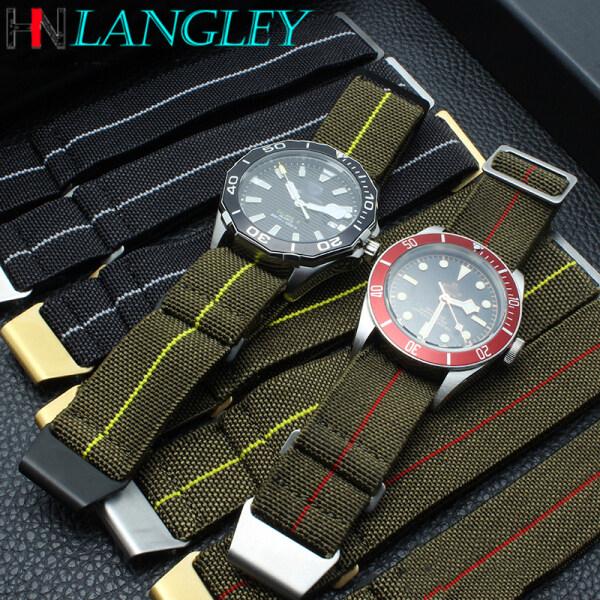 Dây Đồng Hồ Dệt Nylon Langley NATO Cho Tudor Cho Rolex Dây Đeo Túi Dù Seiko Dây Đồng Hồ Quân Đội Nam Co Giãn 20Mm 21Mm 22Mm Vòng Đeo Tay bán chạy