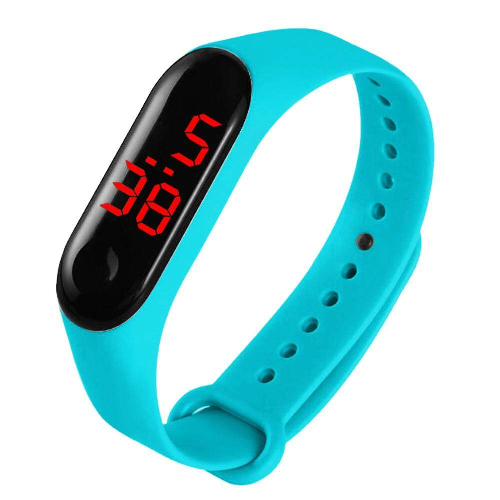 LED Electronic Watches with TPU Strap Fashion Student Lover Sport Gift Digital Wrist Watches Malaysia
