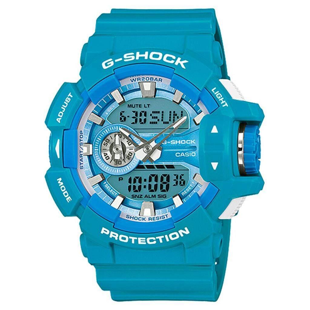 สอนใช้งาน  สมุทรสาคร 【 STOCK】Original _ Casio_G-Shock GA400 Duo W/เวลา 200M กันน้ำกันกระแทกและกันน้ำโลกนาฬิกากีฬาไฟแอลอีดีอัตโนมัติ Wist นาฬิกากีฬาสำหรับ MenGA-400A-2APR