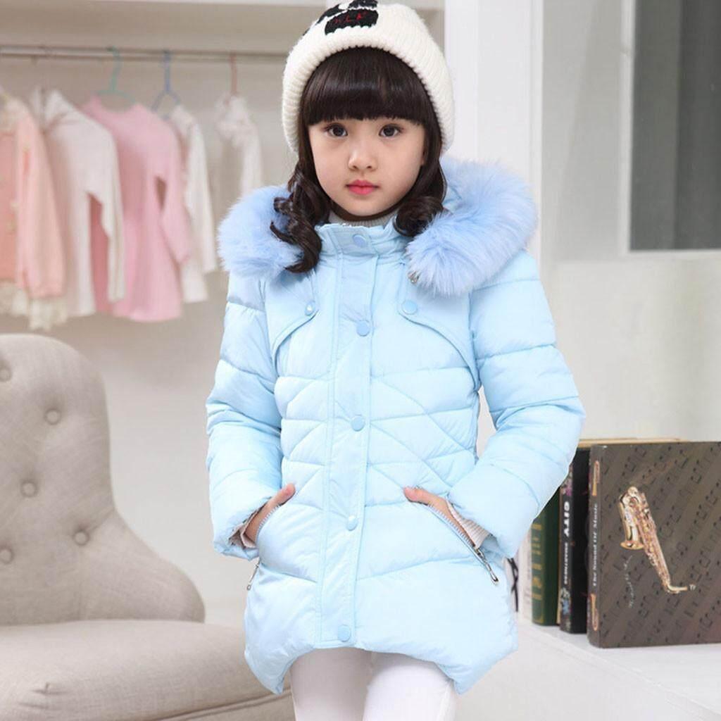 Jeo Anak-Anak Bayi Musim Dingin Mantel Padat Jubah Jaket Tebal Tudung Hangat Pakaian Baju Luar Ruangan By Jeromestore.