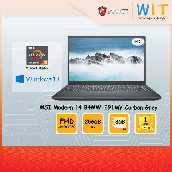 MSI Laptop Modern 14 B4MW-291MY / B4MW-401MY /AMD Ryzen 3-4300U 2.70~3.70GHz/8GB D4/256GB SSD/14.0FHD/AMD Share Malaysia