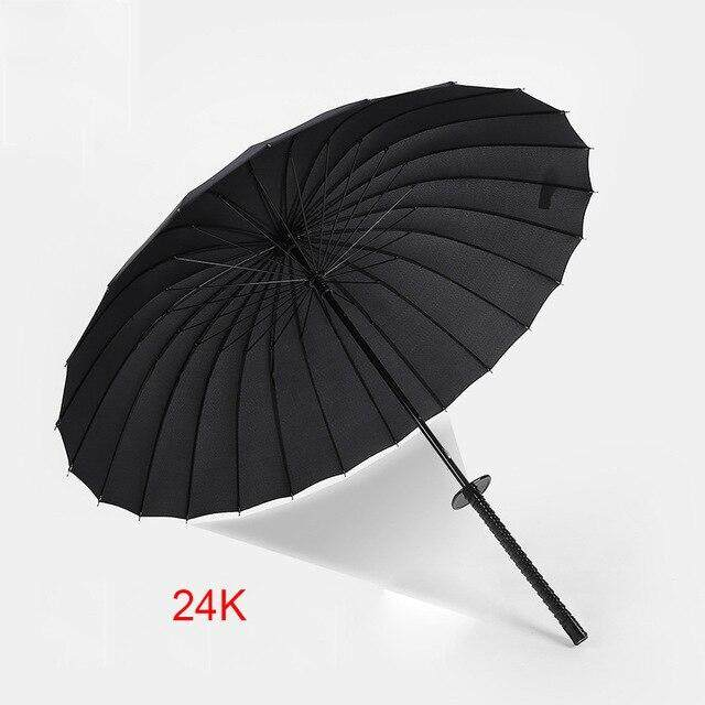 Windproof Samurai Sword Japanese Ninja-like Umbrella Long Handle Ribs Unique Sunny And Rainy Male Manual Open Close Umbrellas