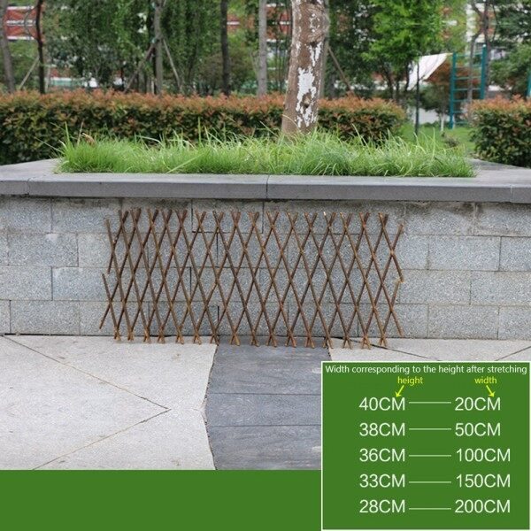 Wooden Garden Trellis Expanding Divider Adjustable Fences Screen Plants Gadgets