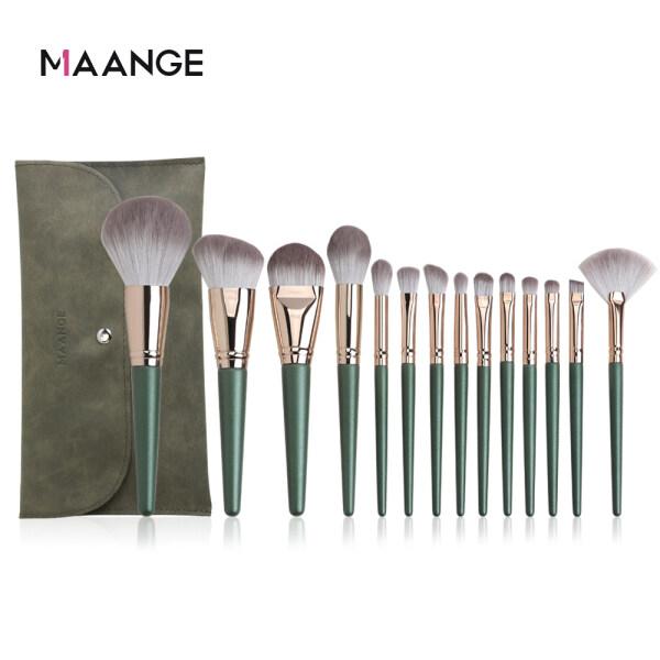 Buy MAANGE 14Pcs Makeup Brush Set With Bag Soft Hair Lip Powder Concealer Highlighter Eyebrow Eyeshadow Cosmetic Beauty Tools Singapore