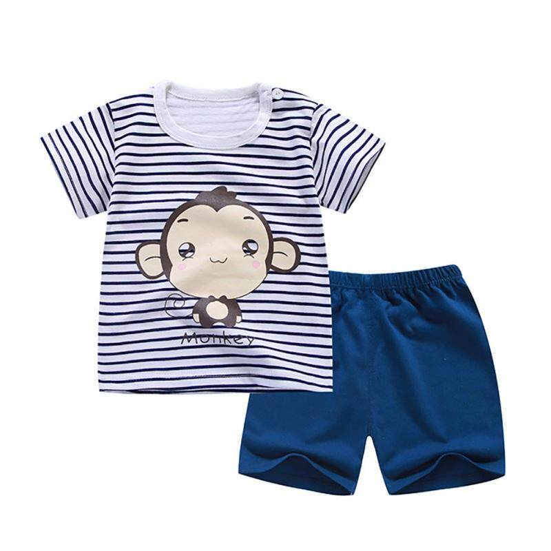 Cartoon Kids Boy Clothing Set Boys Clothing Set Children Summer T-shirt+Pants Cotton Girls Clothes