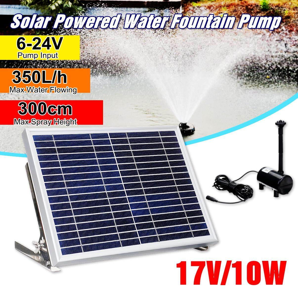 【Free Shipping + Flash Deal】Solar Power Fountain Kit Pool Pond Lake Garden Water Pump Outdoor Submersible