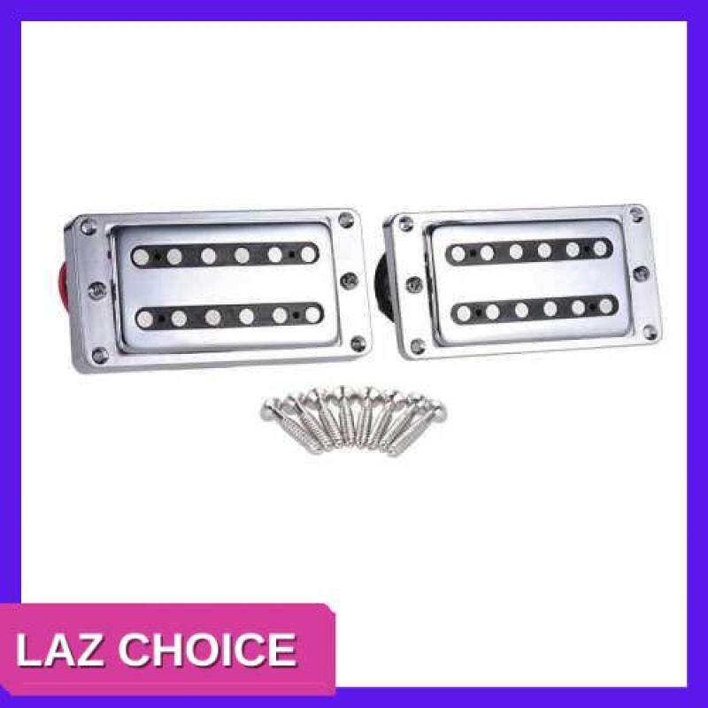 LAZ CHOICE 2pcs/set Guitar Sealed Humbucker Pickups Pick-ups Dual Coil for LP Electric Guitars with Mounting Screws (Silver) Malaysia