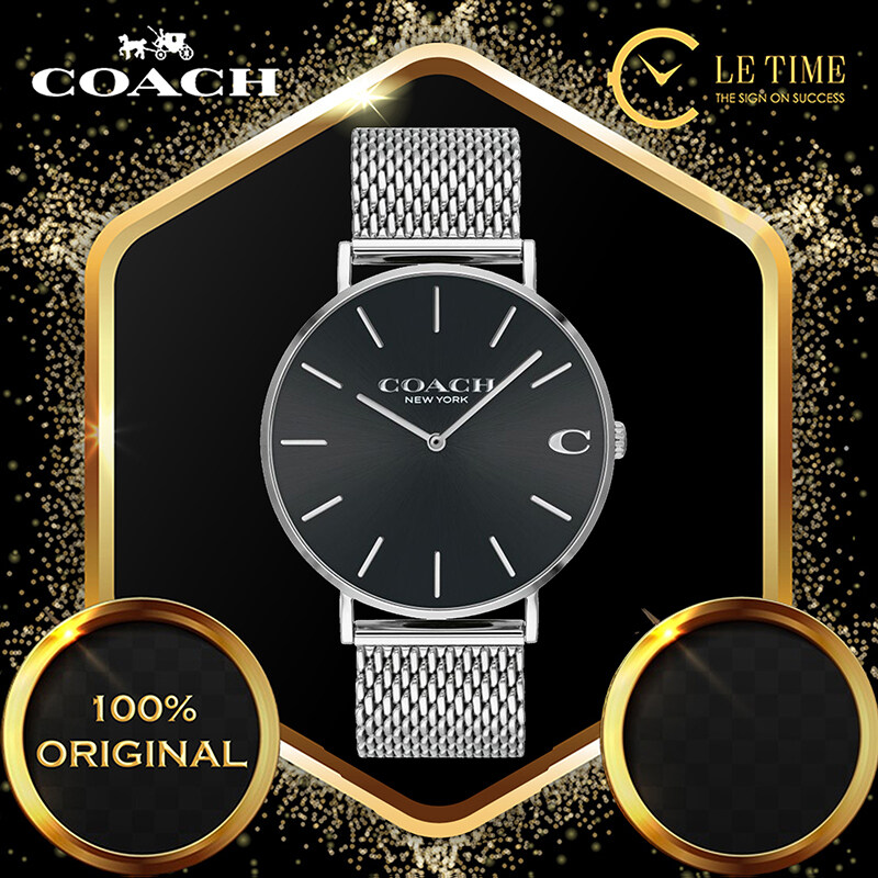 [Authentic] Coach Charles Stainless Steel Silver Men Watch Mesh Strap Jam Tangan Lelaki 14602144 Malaysia