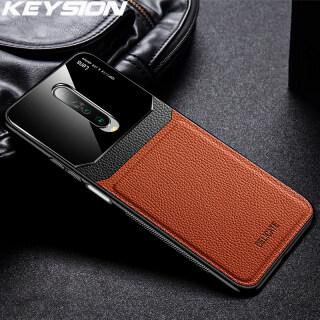 Ốp Chống Sốc KEYSION, Dành Cho Xiaomi Redmi Ốp Lưng Điện Thoại Silicon Mặt Kính Bằng Da K30 K20 Pro Note 8 Pro 8T Dành Cho Redmi K30 Note 8A thumbnail