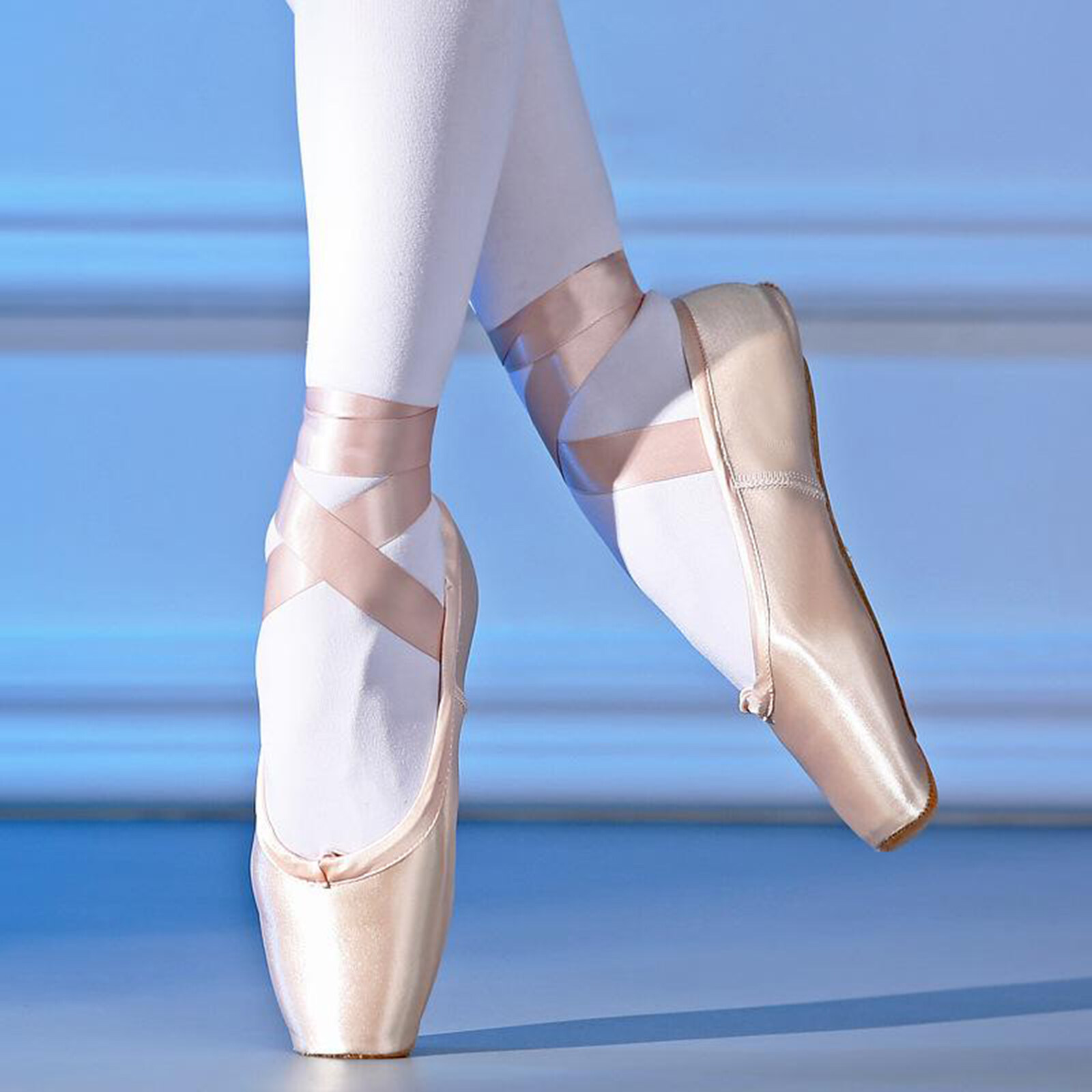 Women Girls Ballet Dance Shoes Soft Satin Pointe Suede Sole Yoga Shoes Dancewear