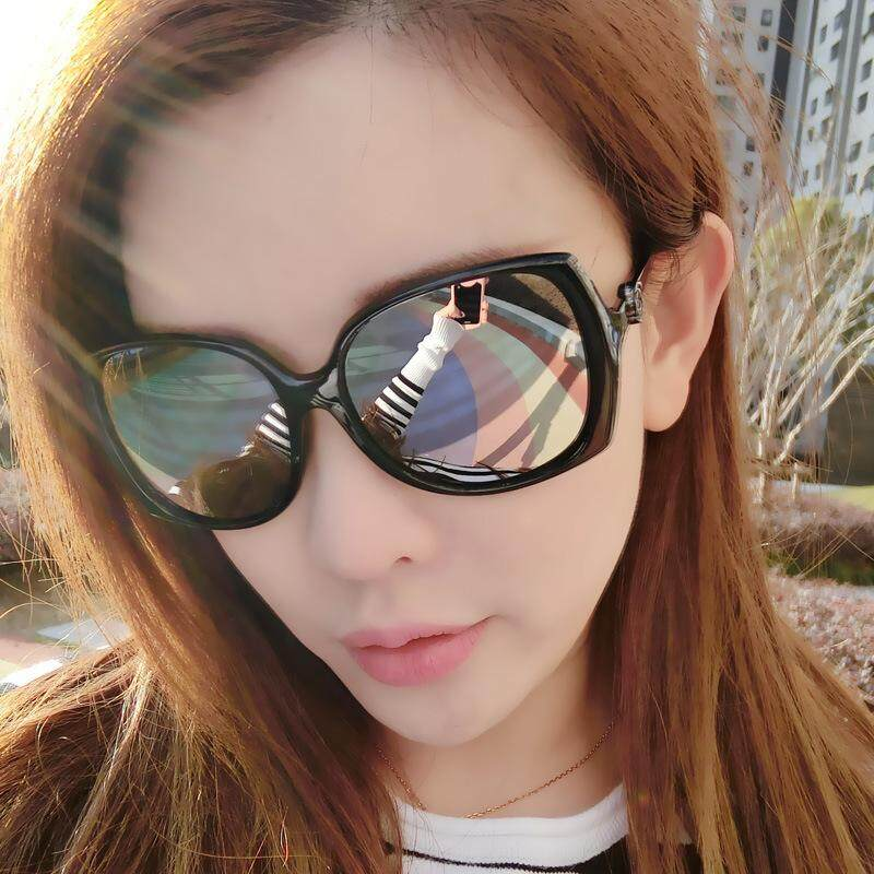 VANEASEL Brand Sunglasses Fashion Star Glasses New Round Personality Sunglasses Ladies Round Face Korean Man Web Celebrity 9572-1