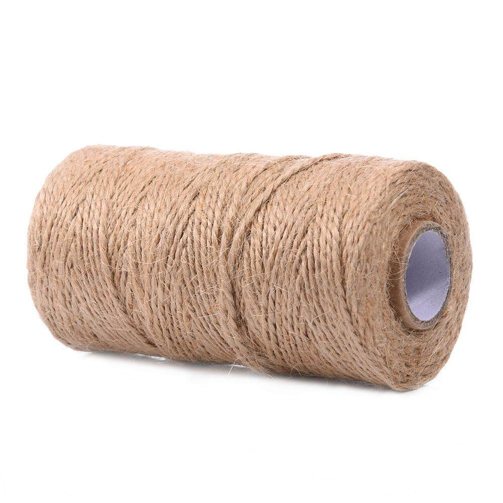 PER 100 Metres Handmade Retro Hemp Rope Jute Twine Box Wrapping Packaging 2Ply Cotton Bakers Twine Party Decoration Gift Wrap Packing Rope
