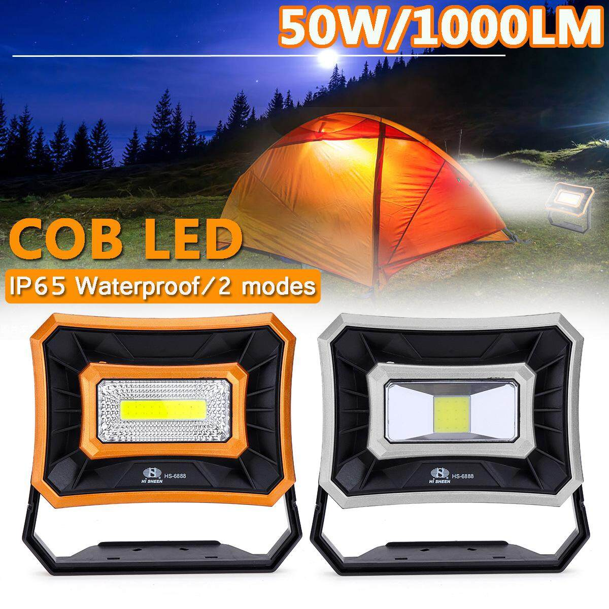 【Free Shipping + Flash Deal】50W/1000LM Portable LED COB Work Light Torch Spotlight Floodlight Lamp Camping