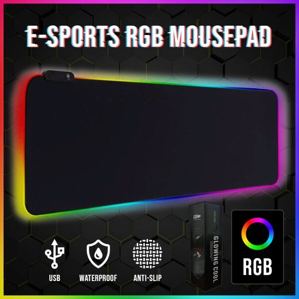 Professional RGB Lighting Waterproof Gaming Mouse Pad Malaysia