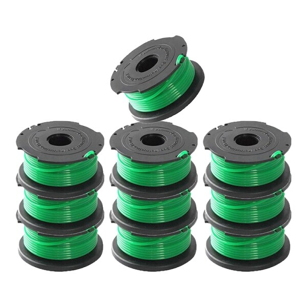 Replacement Spool Single Line,for Black&Decker String Trimmers,20 Ft 0.080 Inch Auto Feed Spool Line(10 Pack)(SF-080 )